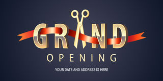 Grand opening vector background Royalty Free Stock Photos