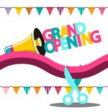 Grand Opening Vector Banner. On White Background royalty free illustration