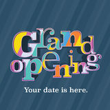 Grand opening vector banner, illustration, flyer Royalty Free Stock Photo