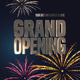 Grand opening vector banner, illustration Stock Images