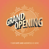 Grand opening vector banner Stock Images