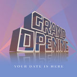 Grand opening vector banner, poster, illustration, flyer Royalty Free Stock Photos