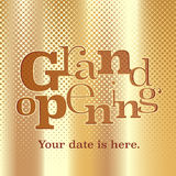 Grand opening vector banner, poster, illustration, flyer Royalty Free Stock Photo