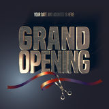 Grand opening vector illustration, background, banner Stock Images