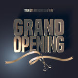 Grand opening vector illustration, background Stock Photography