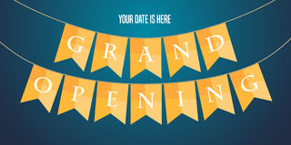 Grand opening vector illustration, background Royalty Free Stock Photos