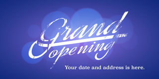 Grand opening vector illustration, background for new store Royalty Free Stock Image