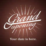 Grand opening vector illustration, background Stock Images