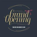 Grand opening vector illustration, banner for new store, shopping center stock illustration