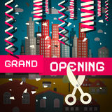 Grand Opening Vector Illustration royalty free illustration