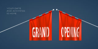 Grand opening vector illustration for new store Royalty Free Stock Photos