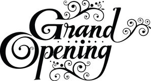 Grand opening. Vector version of my own calligraphy Stock Photo