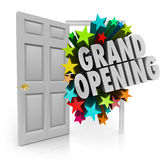 Grand Opening Words Stars Open Door Big Sale Invitation Stock Photography
