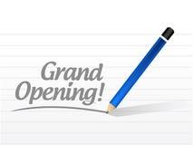 Grand opening written sign illustration Stock Image