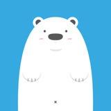Grand ours blanc blanc mignon Illustration Stock