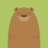 Grand ours brun mignon Illustration Stock