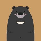 Grand ours noir asiatique mignon Illustration Stock