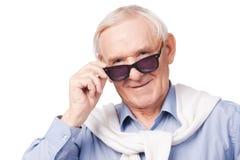 Grand-père à la mode Photos libres de droits
