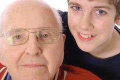Grand - père et fils ensemble photographie stock libre de droits