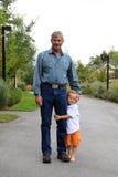 Grand-père et petit-fils Photos stock