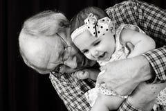 Grand-père et petite-fille Photo stock