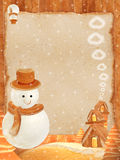 Grand pain de maison de bonhomme de neige Photo libre de droits