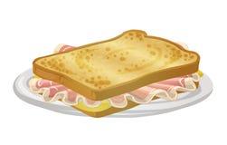 Grand pain grillé illustration libre de droits