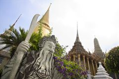 Grand Palace. Statues at Grand Palace, Bangkok royalty free stock images