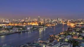 Grand Palace alongside the Chaophraya river Stock Photos