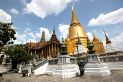Grand Palace in Bangkok. The Grand Palace in Bangkok, Thailand on a perfect summer afternoon Stock Photo