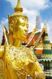Grand palace - Bangkok. Golden statues of grand palace -Bangkok royalty free stock images