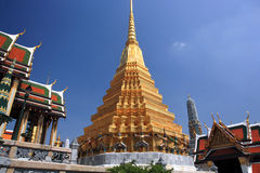 The Grand Palace,Bangkok. Golden pagoda at The Grand Palace- Bangkok, Thailand royalty free stock photo