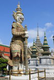 Grand Palace, Bangkok. Guard at Grand Palace in Bangkok, Thailand royalty free stock photo