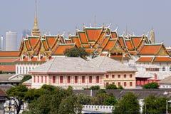 Grand Palace in Bangkok. Wat Phra Kaeo and the Grand Palace architecture in Bangkok, Thailand royalty free stock photo