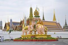 Grand Palace in Bangkok. Wat Phra Kaew, the Grand Palace in Bangkok, Thailand royalty free stock image
