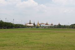 Grand Palace and Temple Royalty Free Stock Photos