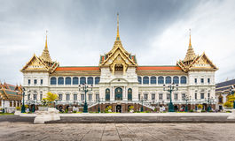 Grand Palace, Bangkok,Chakri Maha Prasat Throne Hall in Wat Pra Kaeo ,Thailand Stock Photo