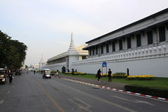 The Grand Palace Bangkok. Bangkok, city, people, street, road, wat, palace, tuktuk, flowers, busstop Royalty Free Stock Photo