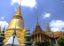 Grand Palace, Bangkok, Thailand. Golden colorful temples in the Grand Palace, Bangkok, Thailand Royalty Free Stock Photography