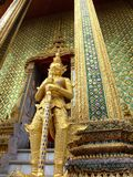 Grand palace, Bangkok, Thailand. Golden statue in the Grand palace, Bangkok, Thailand Royalty Free Stock Photo