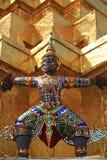 The Grand Palace. Bangkok. Thailand. Thai demon on golden pagoda at the Grand Palace. Bangkok, Thailand royalty free stock image