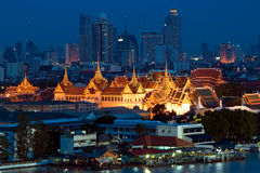 Grand palace , Bangkok, Thailand. Grand palace at night in Bangkok, Thailand Royalty Free Stock Image