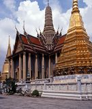 Grand Palace, Bangkok, Thailand. Highly decorated temple in the Grand Palace, Bangkok, Thailand, Asia Royalty Free Stock Photography