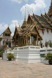Grand palace Bangkok Thailand. Beautiful art building in grand palace Bangkok Thailand, green roof Asian art  ancient Exotic Stock Photo