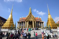The Grand Palace and Temple of Emerald Buddha Royalty Free Stock Photos