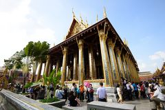 The Grand Palace and Temple of Emerald Buddha Royalty Free Stock Images