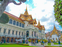 The Grand Palace in Bangkok, Thailand. The Grand Palace landscape in Bangkok, Thailand Royalty Free Stock Images
