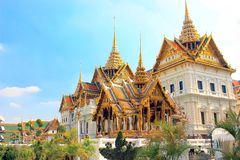 The Grand Palace, Bangkok, Thailand. Symbolic of Majestic Thai Architecture, Grand palace is truly grand - appears like some scene in Disney movies Stock Photography