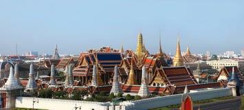 Grand palace in Bangkok, Thailand. Top view Grand palace in Bangkok, Thailand Stock Photos