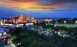 Grand palace in Bangkok, Thailand. Grand palace at twilight in Bangkok, Thailand Royalty Free Stock Photos